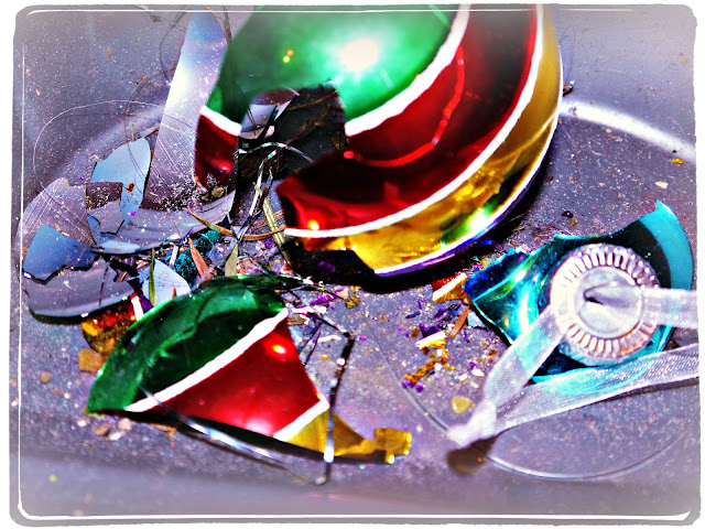 smashed bauble, christmas
