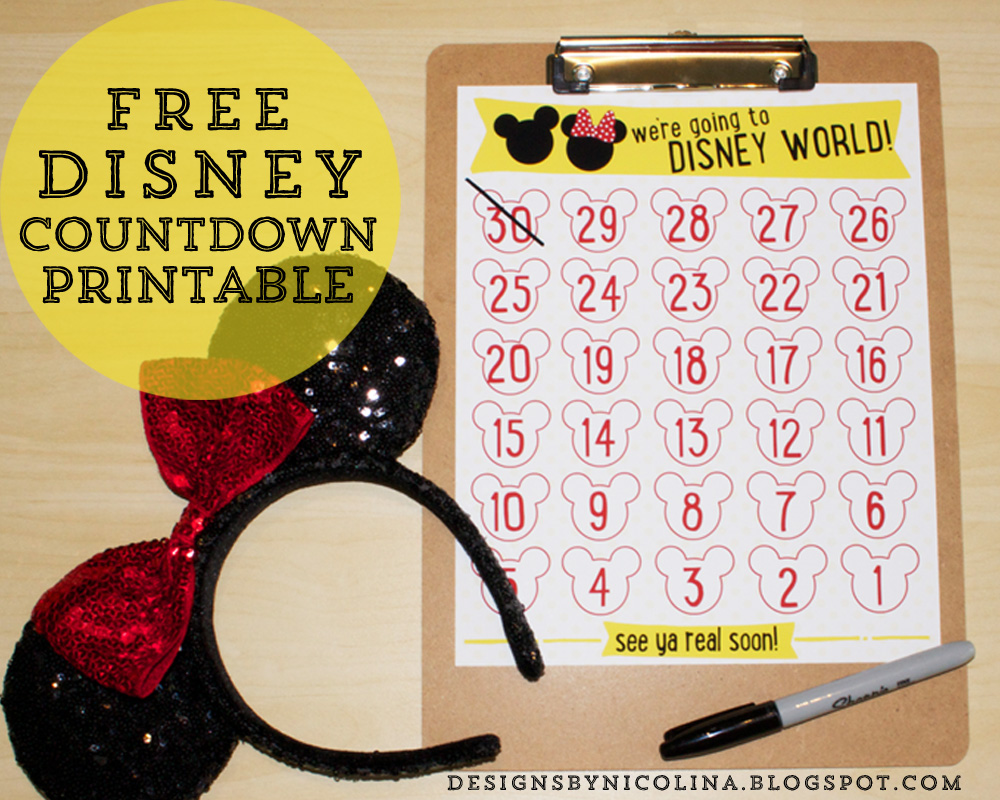 picture relating to Disney Countdown Calendar Printable titled strategies as a result of nicolina: DISNEY COUNTDOWN! /// Absolutely free PRINTABLE ///