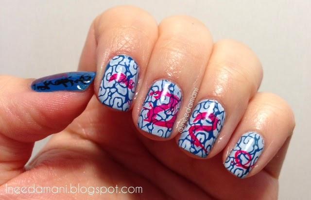 japanese geisha art inspired nails