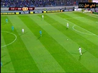 اهداف مباراة زينيت سان بيترسبورج  و تورينو 2-0    الدورى الاوربى دور 16   مباراة ذهاب