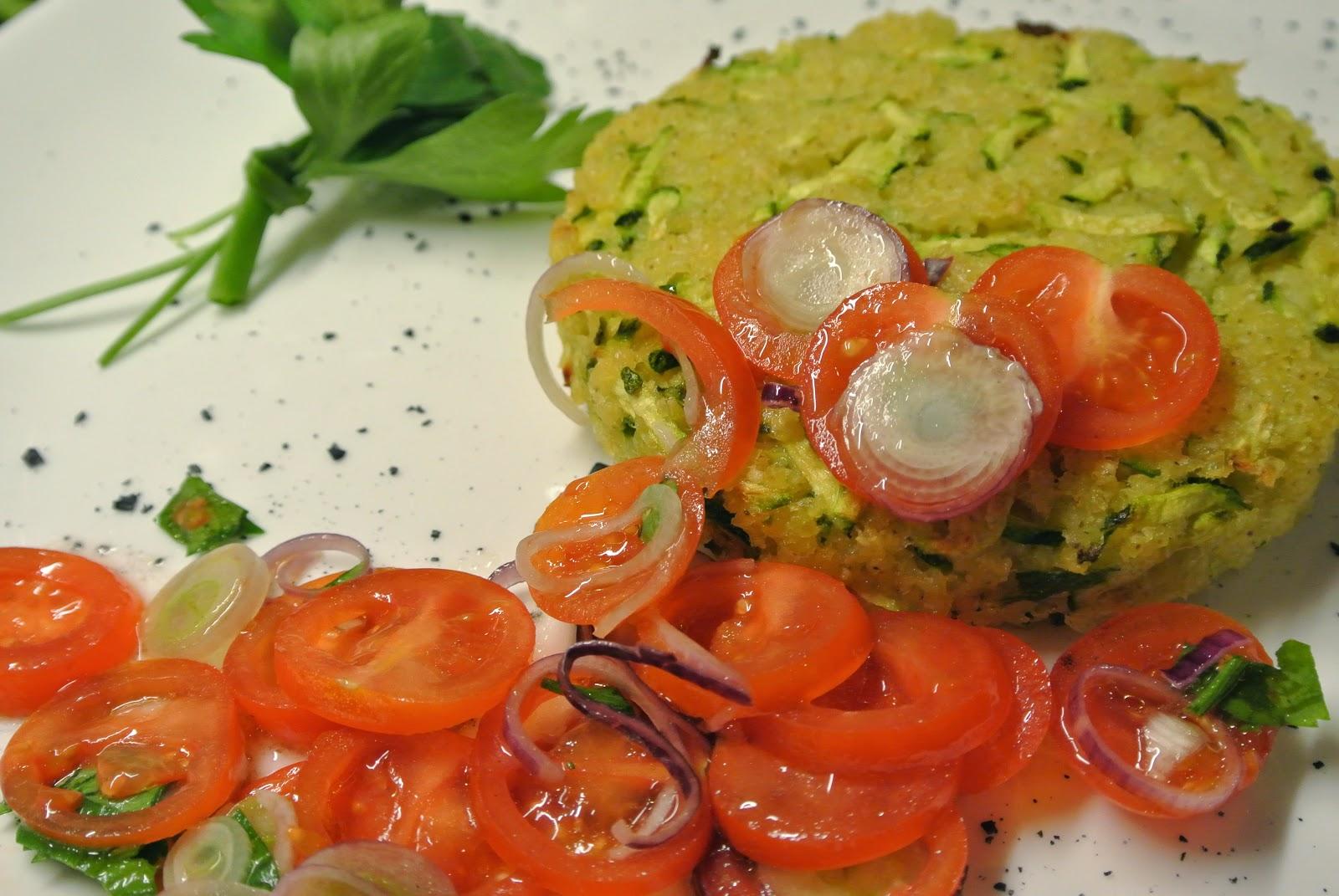 hamburger di miglio e zucchine