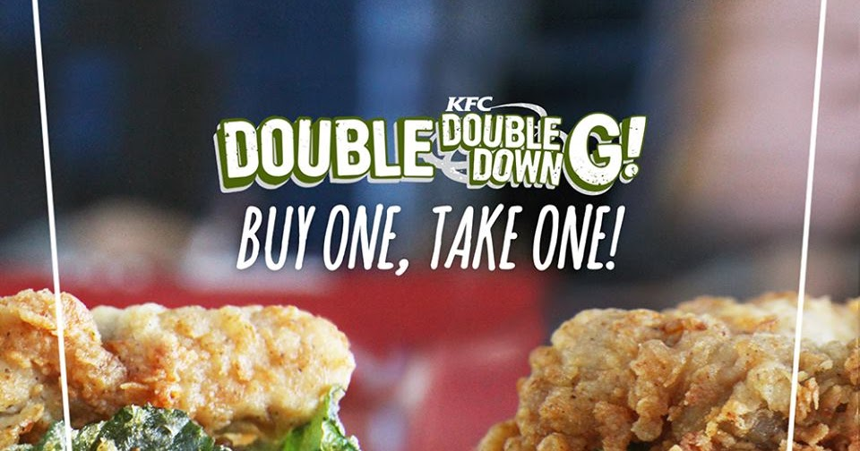 manila shopper kfc double downg buy1 take1 promo january 19 2016 doubledowng. Black Bedroom Furniture Sets. Home Design Ideas