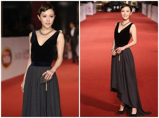 2014 Golden Bell Awards: Amber Kuo wore the same gown with Stefanie Sun