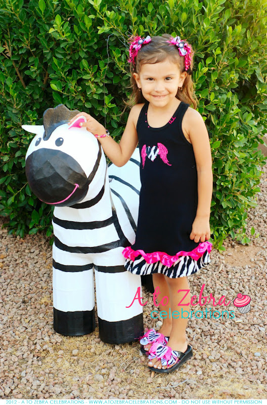 Zebra Birthday Party A to Zebra Celebrations