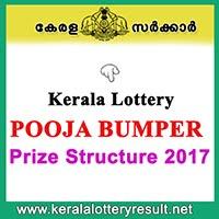 POOJA BUMPER 2017 Prize Structure