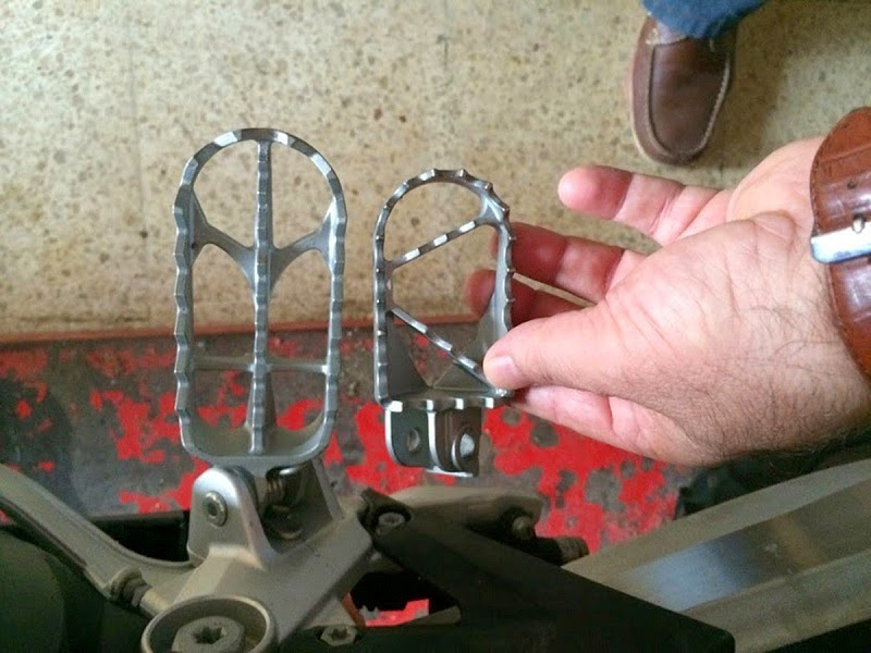 Larger footpegs