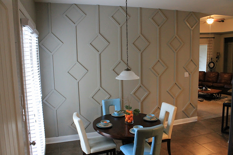 DIY Diamond Wall Treatment How To Guide