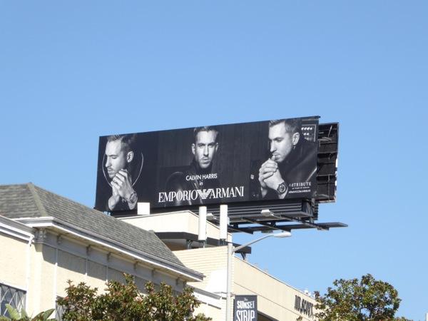 Calvin Harris Emporio Armani FW 2015 billboard