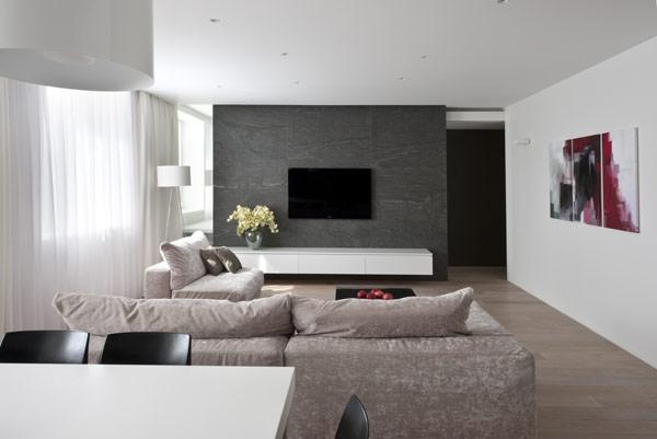 Hogares frescos apartamento de generosas dimensiones for Apartamentos disenos modernos