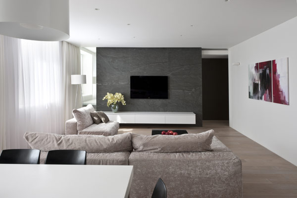 Hogares frescos apartamento de generosas dimensiones for Diseno de interiores departamentos modernos