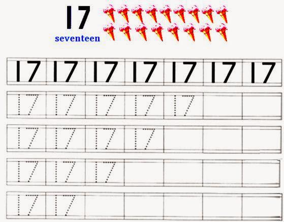 Handwriting Practice Numbers