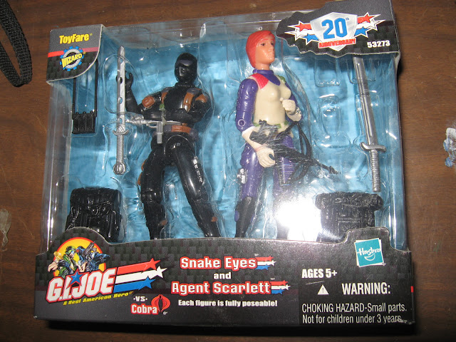 ToyFare Exclusve Snake Eyes and Scarlett 2-pack