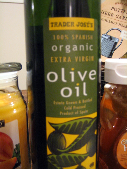 Fifth item- olive oil for health and well being