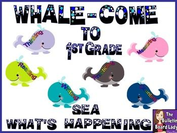 """WHALE"" COME TO FIRST GRADE!!"