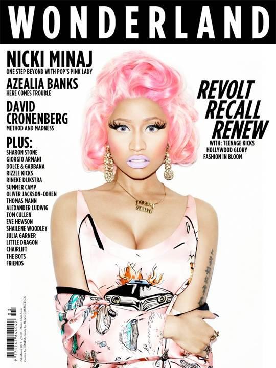 Nicki Minaj é capa da revista Wonderland edição de fevereiro março