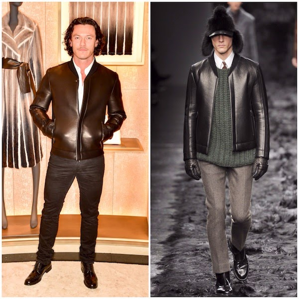 Luke Evans in Fendi - Fendi Store Launch Party