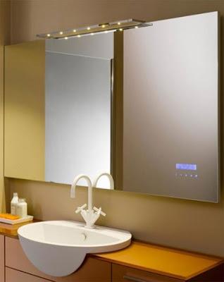 Modernos dise os de espejos para el ba o ba os y muebles for Disenos de espejos