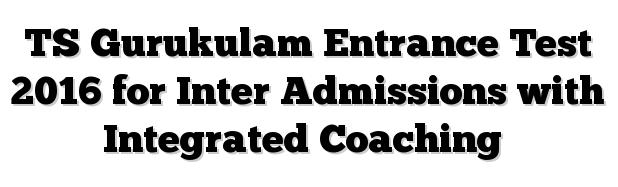 Telangana Gurukulam Inter Admission Notification 2016 TS