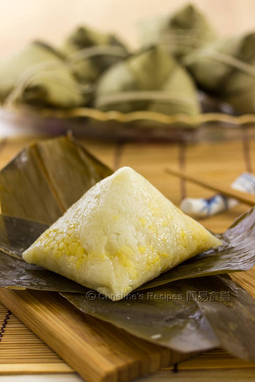 Pyramid shaped Sticky Rice Dumpling01