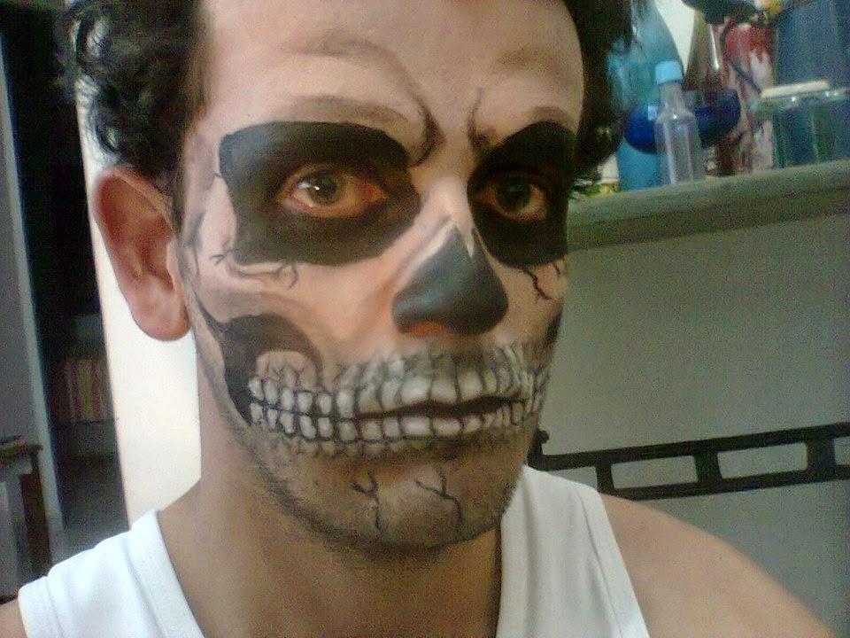 Pintura Facial de Caveira