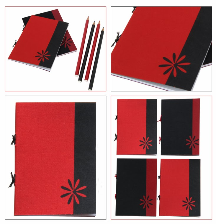 Prien Booklet for your Purse in Black and Red