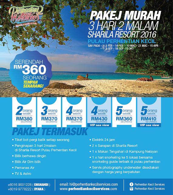 Pakej Pulau Perhentian kecil Murah 2016 , Pakej Pulau Perhentian 2016