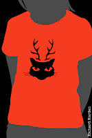 deer cat t-shirt