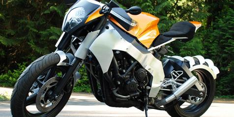 Modif Honda CBR1000F, Nuansa Jingga KTM