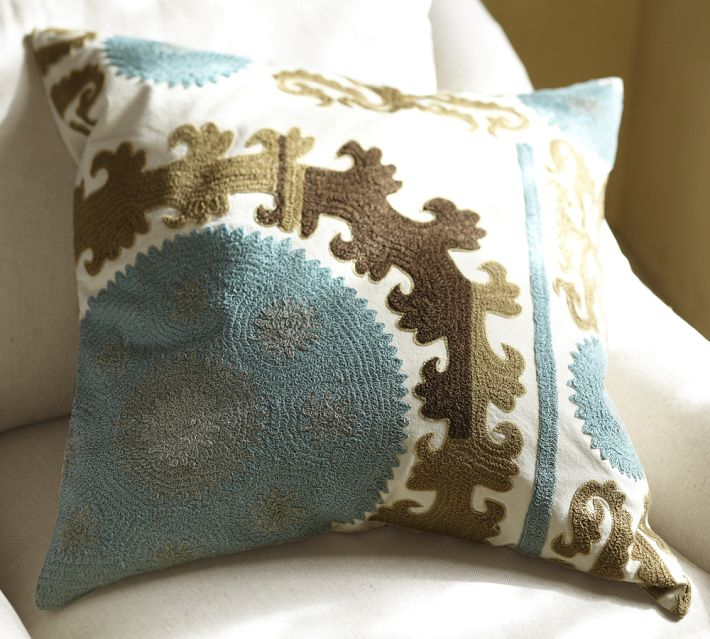 Pottery Barn Decorative Pillow Covers : Decorating with Suzanis: New Suzani-Inspired Furnishings! - Driven by Decor