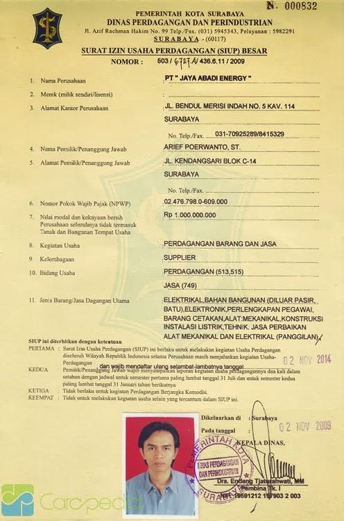 Contoh Contoh Dokumen Siup Npwp Akta Notaris