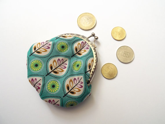 Frame coin purse/ Coin purse frame/ Fall coin purse with leaves