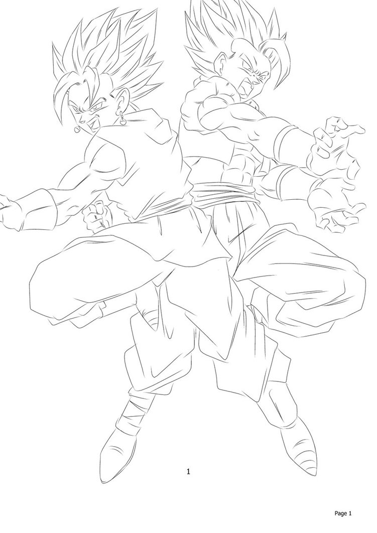 Gogeta and Vegito Coloring Pages