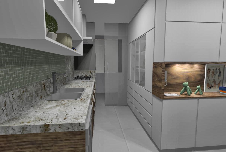 Ideias da Bê!: #COZINHA : uma cozinha com estilo Apto Mata da Praia #2C3B5B 1214 818