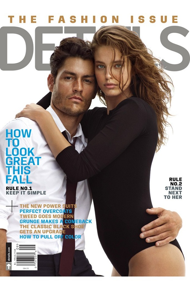 Emily DiDonato and Tyson Ballou cover Details 'The Fashion Issue' September 2013