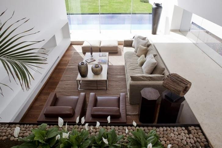 Living room in Casa del Agua by Almazán Arquitectos Asociados