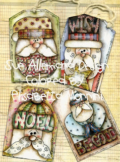 gift tags, Christmas, e-tags, printables, Santa, Sue Allemand