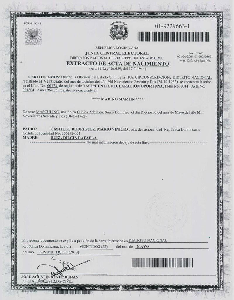 Fantástico Certificado De Nacimiento De Pasaporte Adorno ...