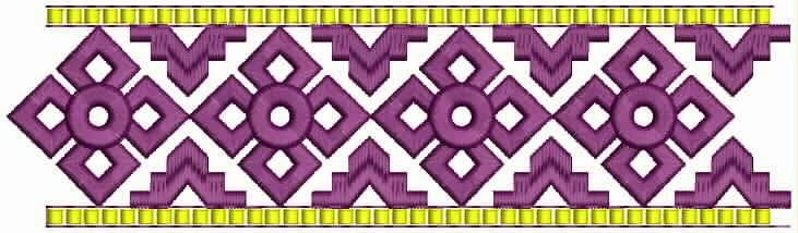 Mexikaanse borduurwerk kant grens