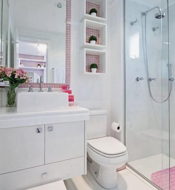 Arredor de mim Banheiros e lavabos estilosos -> Banheiros Sociais Modernos