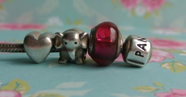 pandora heart elephant pink charm