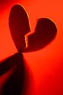 Red Broken Heart