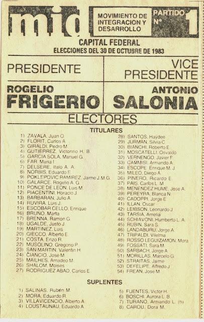 13 de octubre de 1983: