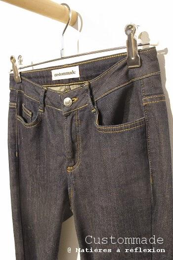 Jeans slim Custommade bleu brut stretch