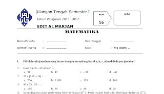 Download Soal Matematika Kelas 6 Sd Uts Semester 1 2011 2012 Guru Mau Belajar