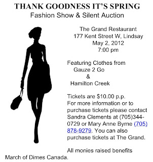 Kawartha lakes Lindsay Thank Goodness It's Spring Fashion Show Poster