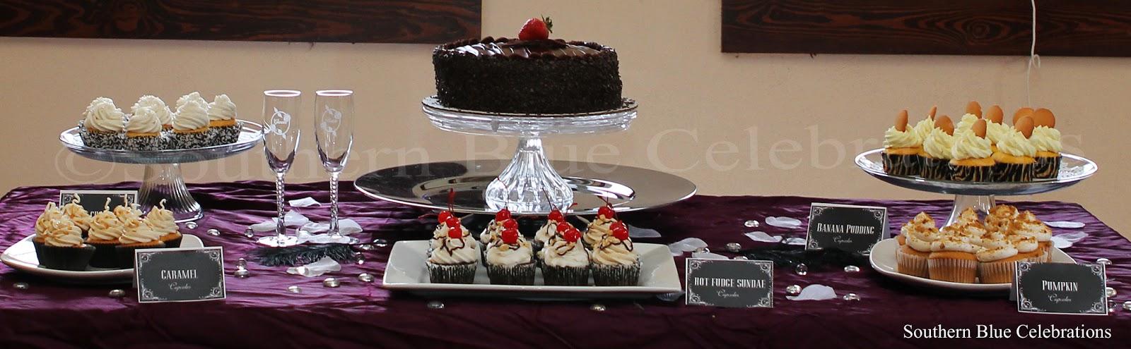Southern Blue Celebrations: Black, White & Purple Wedding Reception