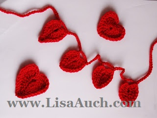 Crochet headband-free crochet patterns-crochet heart pattern