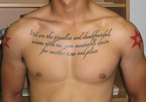 Tattoos for men on chest words great tattoos for Meaningful mens tattoos