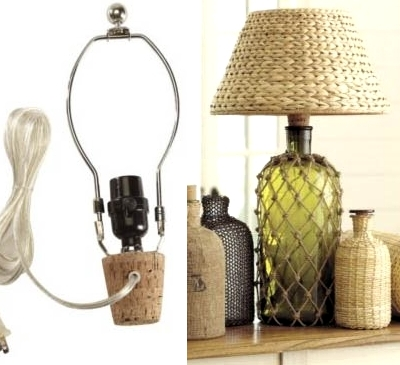 Rope net bottle ideas completely coastal you can easily convert any bottle or jug into a table lamp with a lamp bottle kit the cord is on the outside but you can hide it behind the base greentooth Choice Image