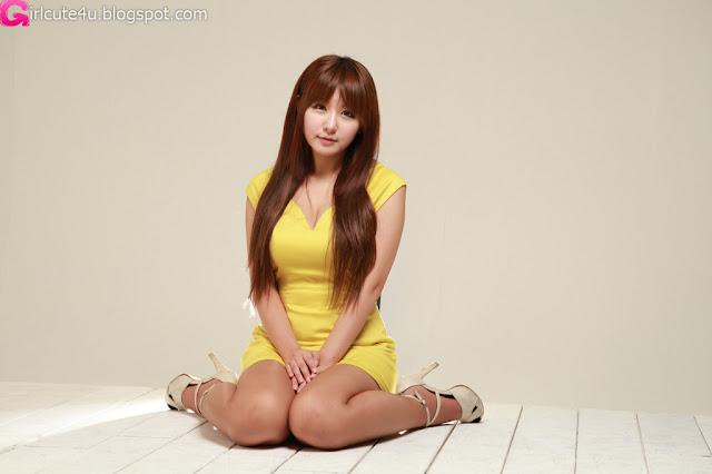 4 Ryu Ji Hye in Yellow-very cute asian girl-girlcute4u.blogspot.com
